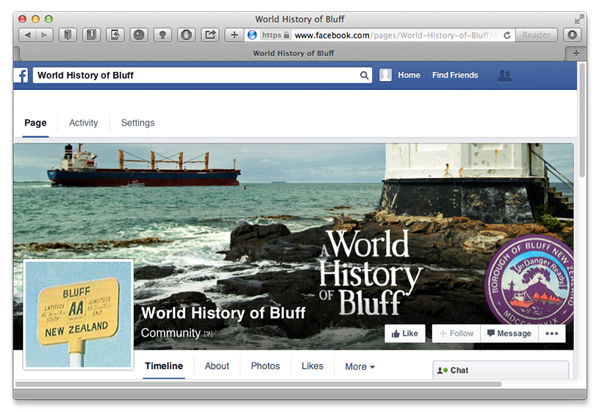 World History of Bluff on Facebook