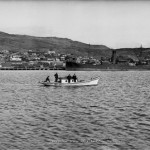 R P Moore, Panoramic view of Bluff, ca 1925-1928. R P Moore Collection, Alexander Turnbull Library.